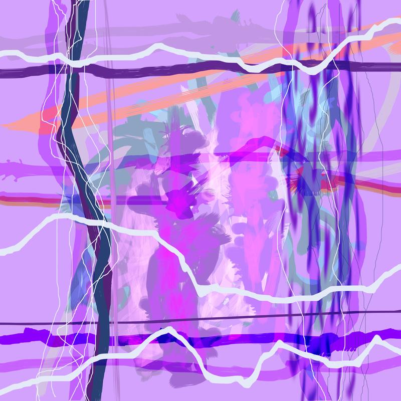 Image of   Purple Passion No. 2 af Brisingamen Studio
