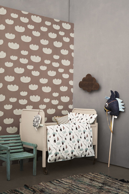 Image of   Cloud, Rose tapet af Ferm Living