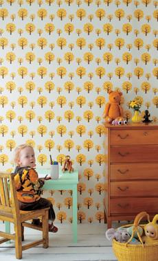 Billede af Dotty, Yellow tapet af Ferm Living