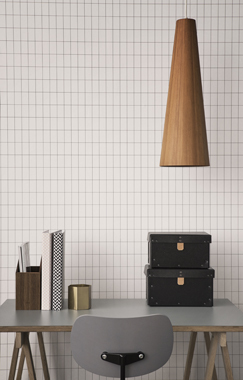 Grid, Black/White tapet af Ferm Living