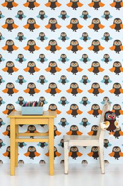 Image of   Owls tapet af Ferm Living