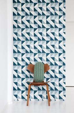 Image of   Remix, Blue tapet af Ferm Living