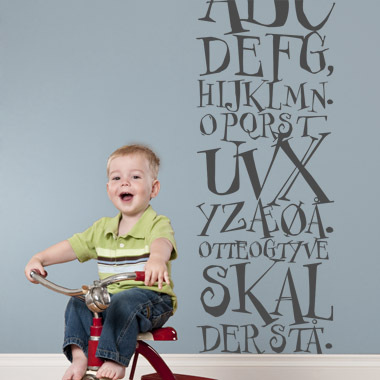Image of   ABC sang wallsticker af Anline Ruby, 30x80 cm