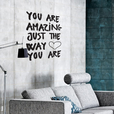 Image of   Amazing wallsticker af Diana Lovring, 42x60 cm