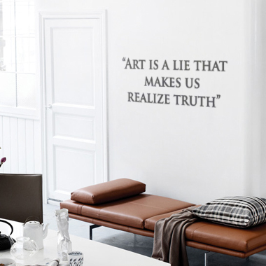 Image of Art Is A Lie wallsticker af Alan Smithee, 80x28 cm