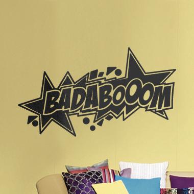 Image of   Badaboom wallsticker af Alan Smithee, 70x35 cm