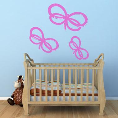 Image of   Balloon Butterflies wallsticker af Ane Marie Blæsbjerg, 70x56 cm