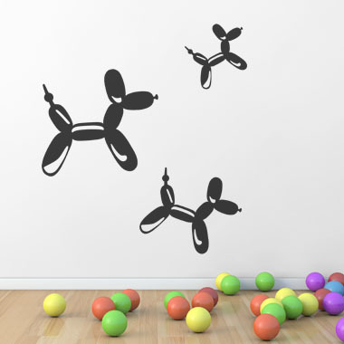 Image of   Balloon Dogs wallsticker af Ane Marie Blæsbjerg, 70x56 cm
