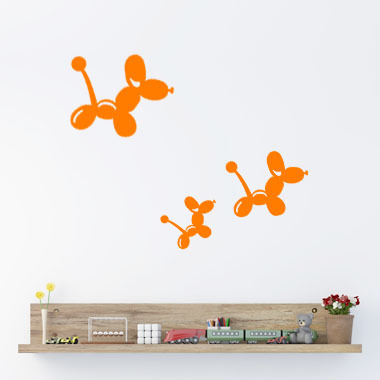 Image of   Balloon Mice wallsticker af Ane Marie Blæsbjerg, 70x56 cm