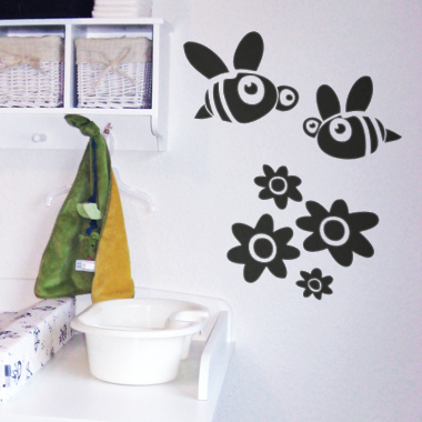 Image of   BeeBee wallsticker af Alan Smithee, 36x48 cm