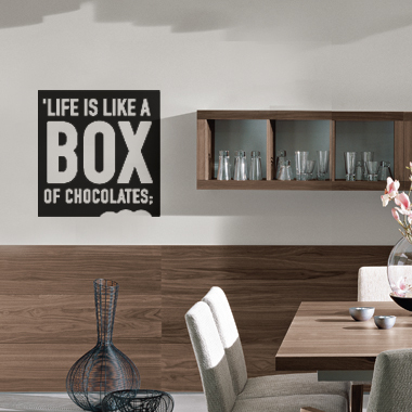 Image of   Box of chocolates wallsticker af Alan Smithee, 36x36 cm