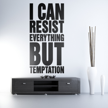 Image of   But Temptation wallsticker af Alan Smithee, 45x92 cm