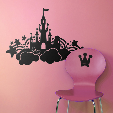 Image of   Castle in the sky wallsticker af Alan Smithee, 56x38 cm