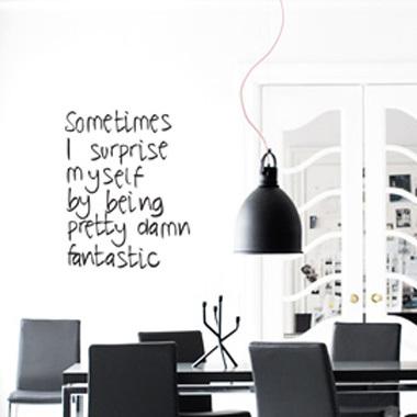 Image of   Damn Fantastic wallsticker af Diana Lovring, 45x57 cm