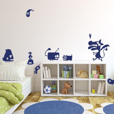 Image of Fantasidyr 1 wallsticker af Anline Ruby, 42x49 cm