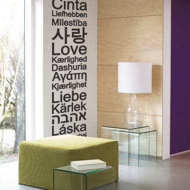 Image of   Global Love wallsticker af Alan Smithee, 31x161 cm