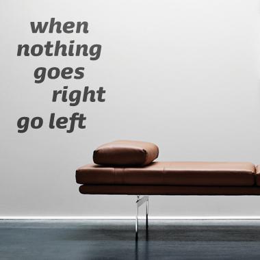 Image of   Go left wallsticker af Alan Smithee, 48x60 cm