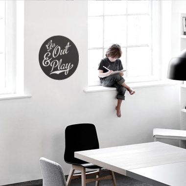 Image of Go Out & Play wallsticker af Alan Smithee, 38x38 cm