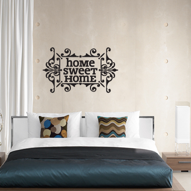 Image of   Home sweet home wallsticker af Alan Smithee, 60x37 cm