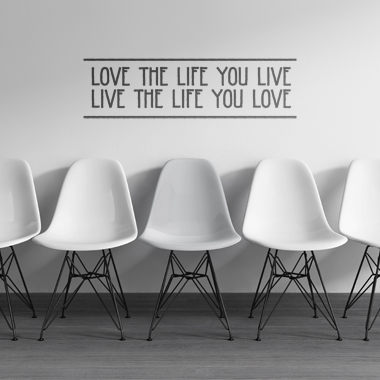 Image of   Love The Life wallsticker af Alan Smithee, 82x23 cm