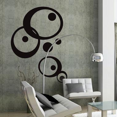 Image of   My roundys wallsticker af Heidi Holm Pedersen, 100x135 cm