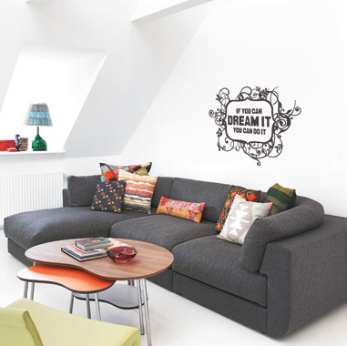 Image of   Mydream wallsticker af Heidi Holm Pedersen, 42x56 cm