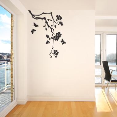 Image of   Myflowertree wallsticker af Heidi Holm Pedersen, 40x50 cm