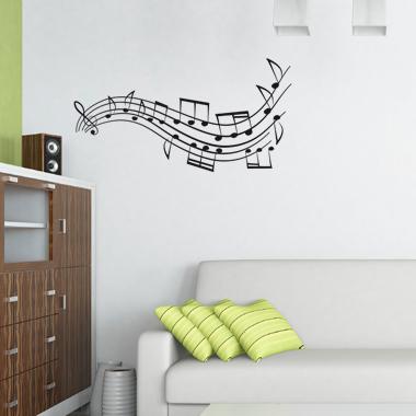 Image of   Mymusic wallsticker af Heidi Holm Pedersen, 30x58 cm