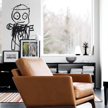 Image of   Poul Pava 1002 wallsticker af Poul Pava, 41x65 cm