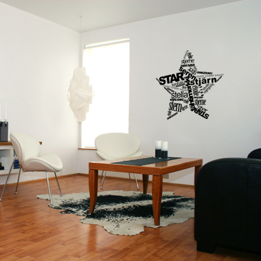 Image of   Star wallsticker af Diana Lovring, 95x95 cm