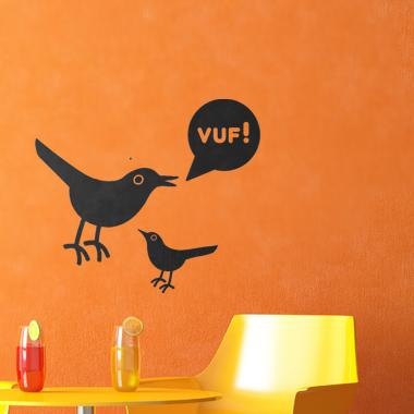 Image of Vuf wallsticker af Alan Smithee, 36x31 cm