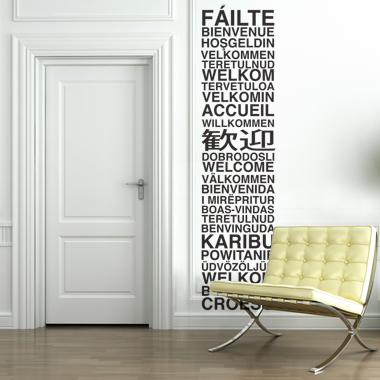 Image of   Welcome wallsticker af Alan Smithee, 33x138 cm