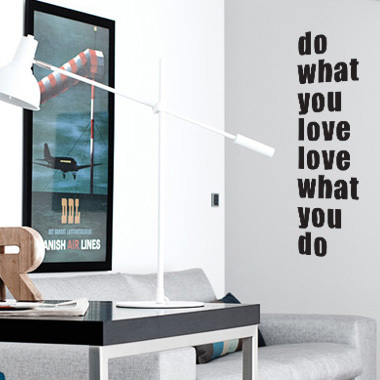Image of   What you love wallsticker af Diana Lovring, 25x90 cm