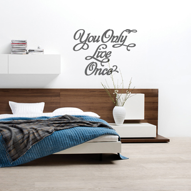 Image of   You only live once wallsticker af Alan Smithee, 57x43 cm